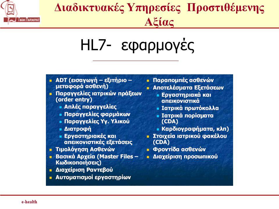 e-health HL7- εφαρμογές