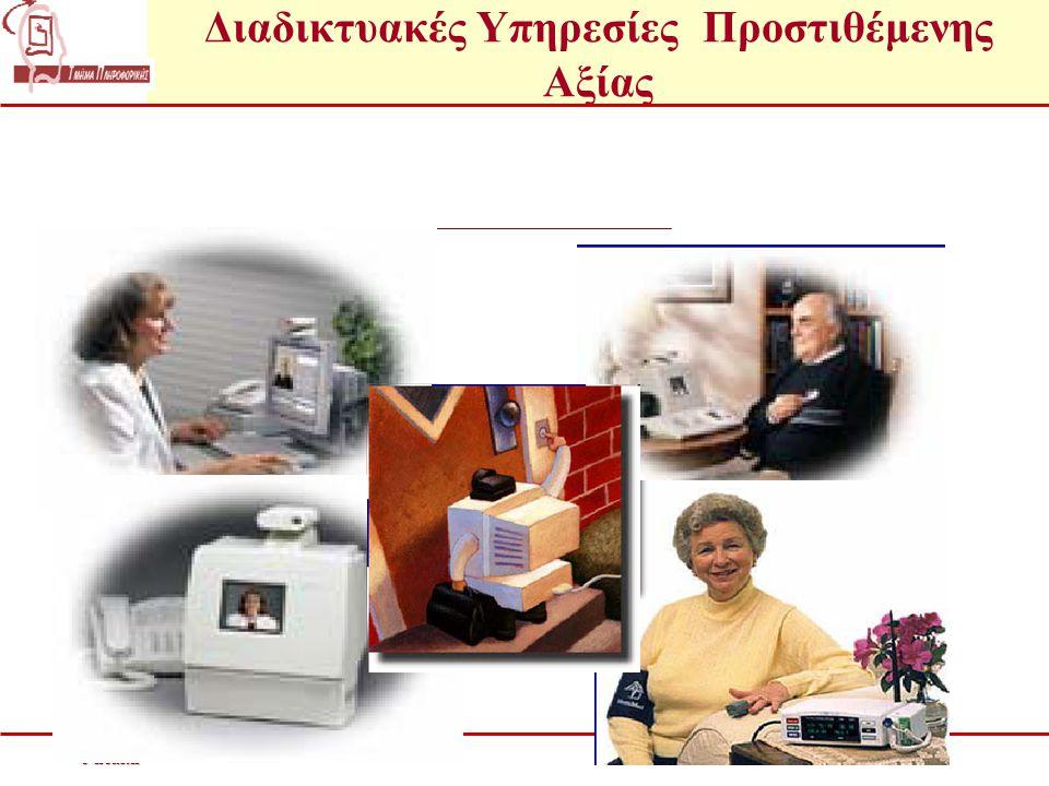 Διαδικτυακές Υπηρεσίες Προστιθέμενης Αξίαςe-health Συνεχή Ιατρική παρακολούθηση