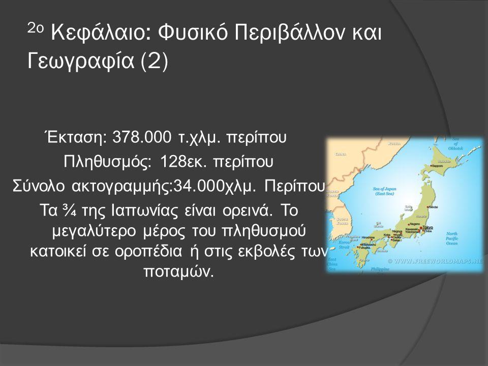 2ο Κεφάλαιο: Φυσικό Περιβάλλον και Γεωγραφία (2) Έκταση: 378.000 τ.χλμ.