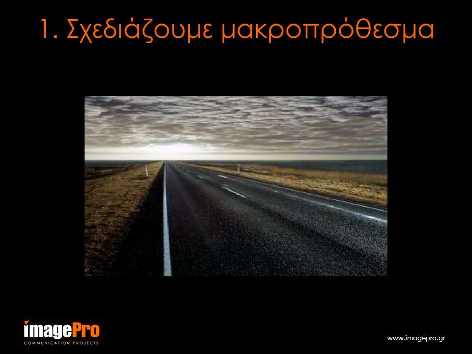 www.imagepro.gr 1. Σχεδιάζουμε μακροπρόθεσμα