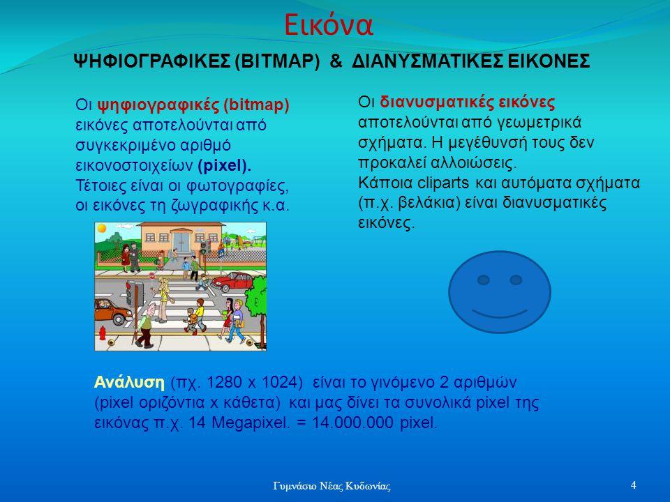 Κείμενο Χάρτης εννοιών διαφόρων μορφών Με τον χρήστη Συνδυάζει πληροφορίες Συνδέει πληροφορίες Χρησιμοποιείται ΕικόναΉχο Με μη – γραμμικό τρόπο Εκπαίδευση αλληλεπιδρά Βίντεο Κινούμενη εικόνα Τουρισμό – πληροφόρηση Ψυχαγωγία Διαφήμιση Πωλήσεις Εφαρμογή Πολυμέσων 15 Γυμνάσιο Νέας Κυδωνίας