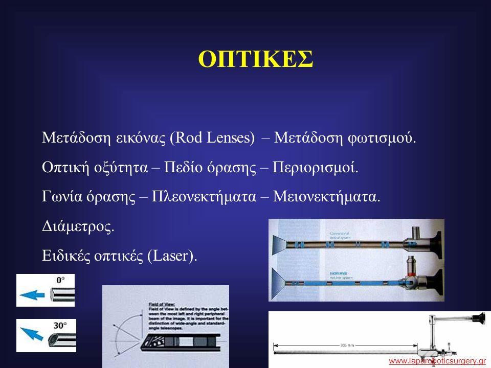 ΟΠΤΙΚΕΣ Μετάδοση εικόνας (Rod Lenses) – Μετάδοση φωτισμού. Οπτική οξύτητα – Πεδίο όρασης – Περιορισμοί. Γωνία όρασης – Πλεονεκτήματα – Μειονεκτήματα.