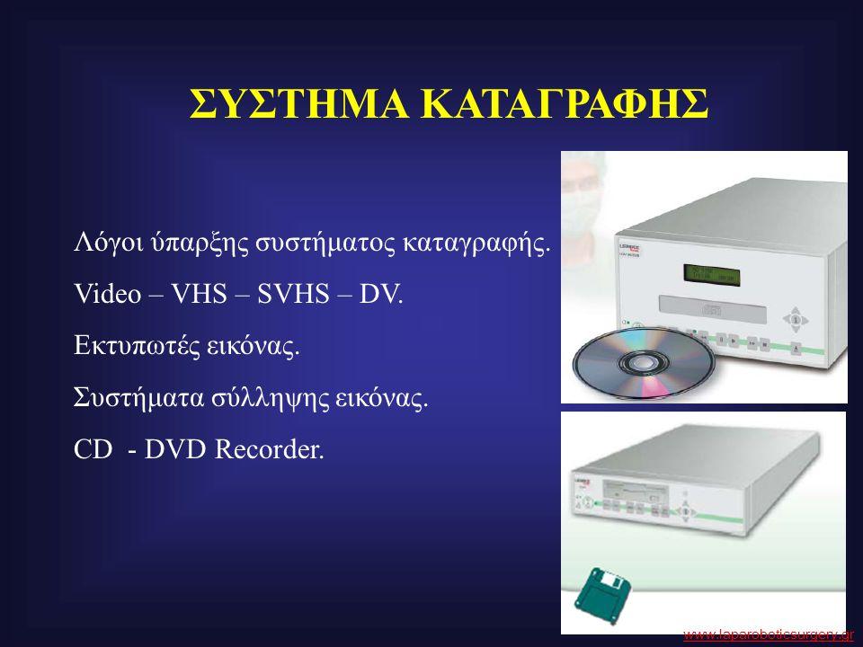 ΣΥΣΤΗΜΑ ΚΑΤΑΓΡΑΦΗΣ Λόγοι ύπαρξης συστήματος καταγραφής. Video – VHS – SVHS – DV. Εκτυπωτές εικόνας. Συστήματα σύλληψης εικόνας. CD - DVD Recorder. www