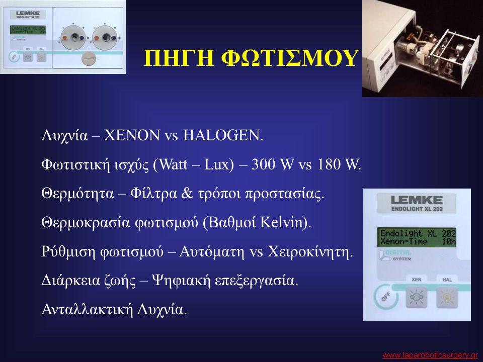ΠΗΓΗ ΦΩΤΙΣΜΟΥ Λυχνία – ΧΕΝΟΝ vs HALOGEN. Φωτιστική ισχύς (Watt – Lux) – 300 W vs 180 W. Θερμότητα – Φίλτρα & τρόποι προστασίας. Θερμοκρασία φωτισμού (