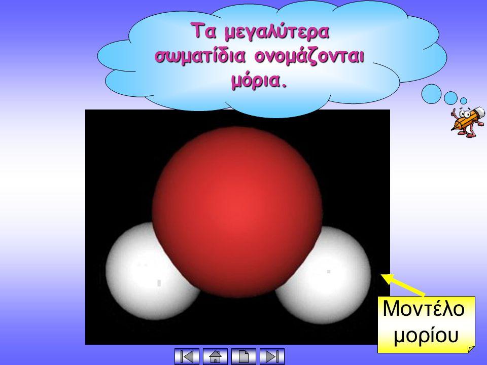 Τα μόρια αποτελούνται από άτομα. Μοντέλο μορίου