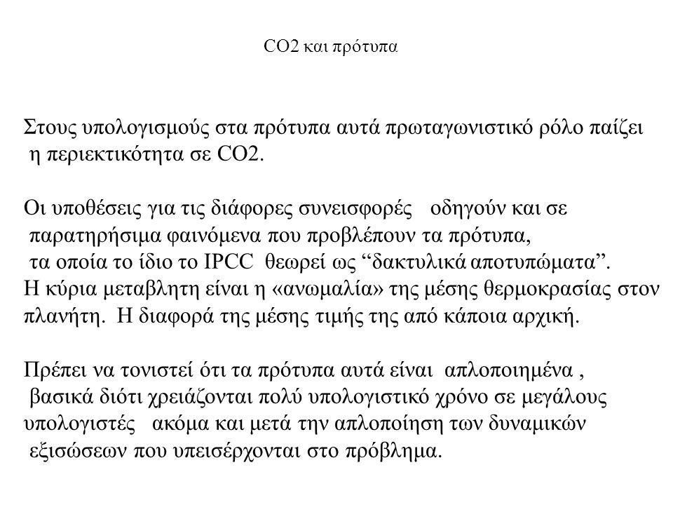CO2 και πρότυπα Στους υπολογισμούς στα πρότυπα αυτά πρωταγωνιστικό ρόλο παίζει η περιεκτικότητα σε CO2. Οι υποθέσεις για τις διάφορες συνεισφορές οδηγ