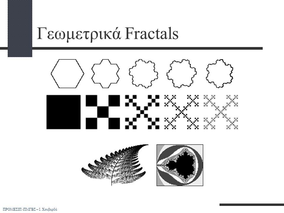 ΠΡΟΜΕΣΙΠ -ΠΜΓΒΣ – Ι. Χουβαρδά Γεωμετρικά Fractals