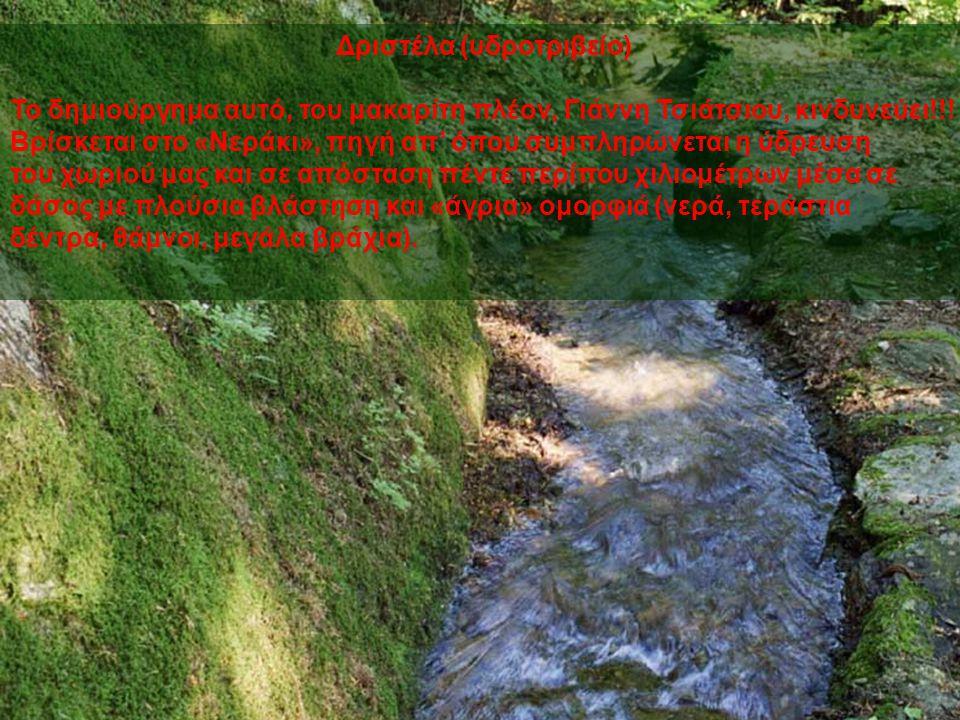 Δριστέλα (υδροτριβείο) Το δημιούργημα αυτό, του μακαρίτη πλέον, Γιάννη Τσιάτσιου, κινδυνεύει!!.