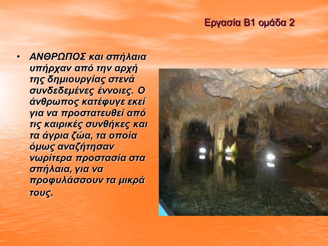 Εργασία Β1 ομάδα 2 Από τα παλιά παλιά χρόνια σε πολλά σπήλαια όπως και το σπήλαιο περάματος τα ζώα αναζήτησαν προστασία.το σπήλαιο περάματος είναι πολύ γνωστό για την σπήλαια άρκτος.