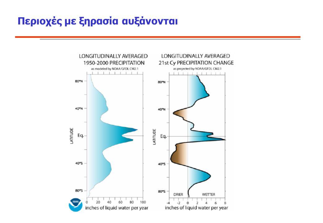Περιοχές με ξηρασία αυξάνονται