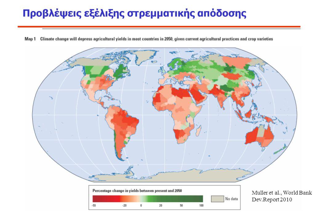 Muller et al., World Bank Dev.Report 2010 Προβλέψεις εξέλιξης στρεμματικής απόδοσης