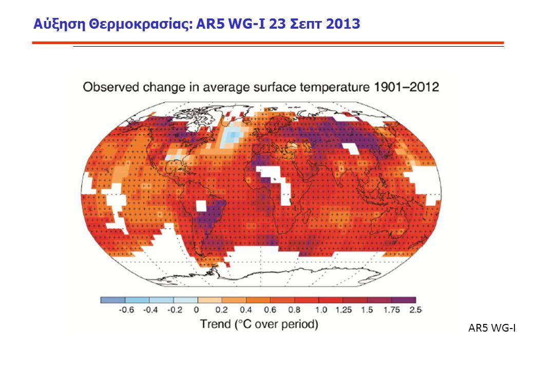 Αύξηση Θερμοκρασίας: AR5 WG-I 23 Σεπτ 2013 AR5 WG-I