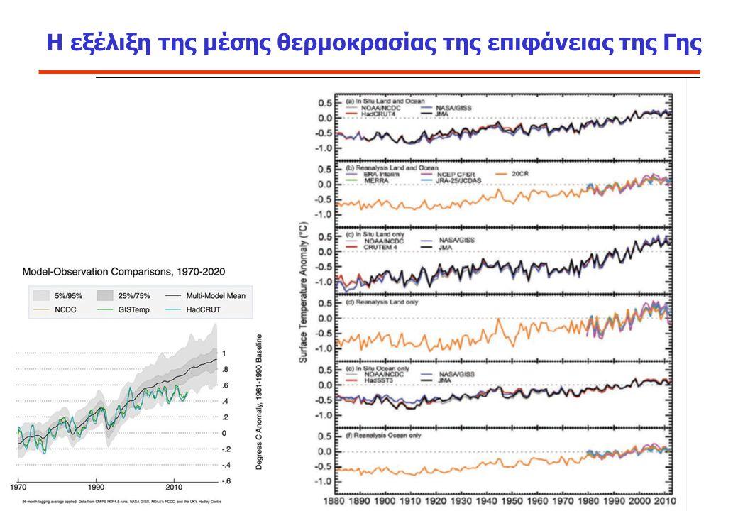 Σε όλες τις περιπτώσεις που μελετήθηκαν παρουσιάστηκε μείωση της περιόδου ανάπτυξης, λόγω των υψηλότερων μέσων θερμοκρασιών.