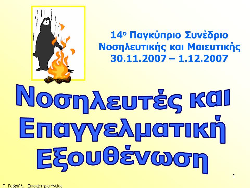 Π. Γαβριήλ, Επισκέπτρια Υγείας 1 14 ο Παγκύπριο Συνέδριο Νοσηλευτικής και Μαιευτικής 30.11.2007 – 1.12.2007