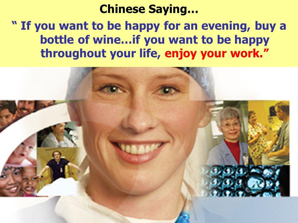 """Π. Γαβριήλ, Επισκέπτρια Υγείας 60 Chinese Saying… """" If you want to be happy for an evening, buy a bottle of wine…if you want to be happy throughout yo"""