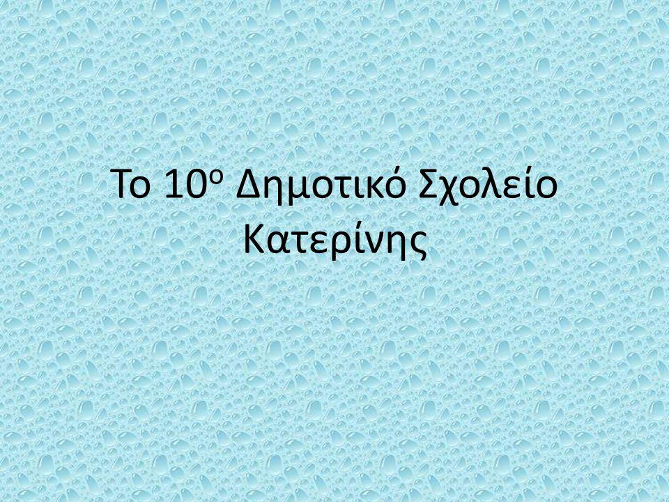 Το 10 ο Δημοτικό Σχολείο Κατερίνης