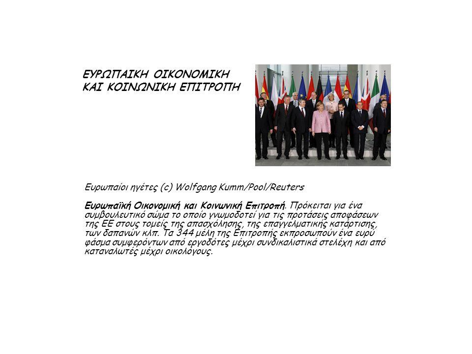 Ευρωπαίοι ηγέτες (c) Wolfgang Kumm/Pool/Reuters Ευρωπαϊκή Οικονομική και Κοινωνική Επιτροπή.