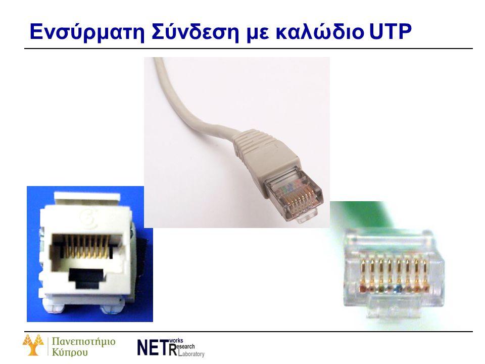 Ενσύρματη Σύνδεση με καλώδιο UTP