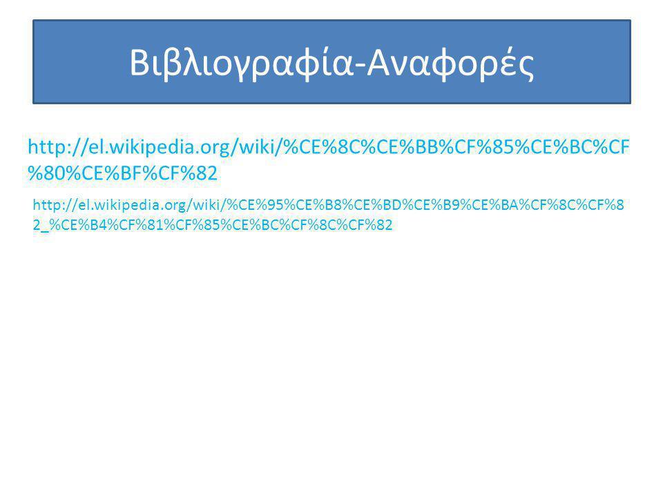 Βιβλιογραφία-Αναφορές http://el.wikipedia.org/wiki/%CE%8C%CE%BB%CF%85%CE%BC%CF %80%CE%BF%CF%82 http://el.wikipedia.org/wiki/%CE%95%CE%B8%CE%BD%CE%B9%C