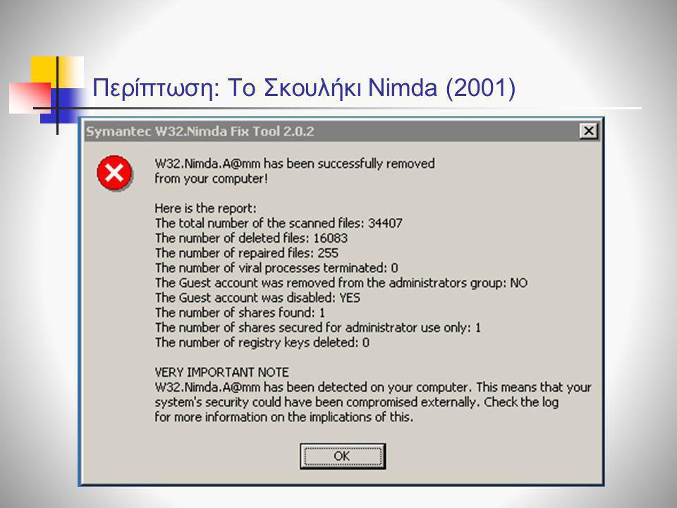 Περίπτωση: Το Σκουλήκι Nimda (2001)