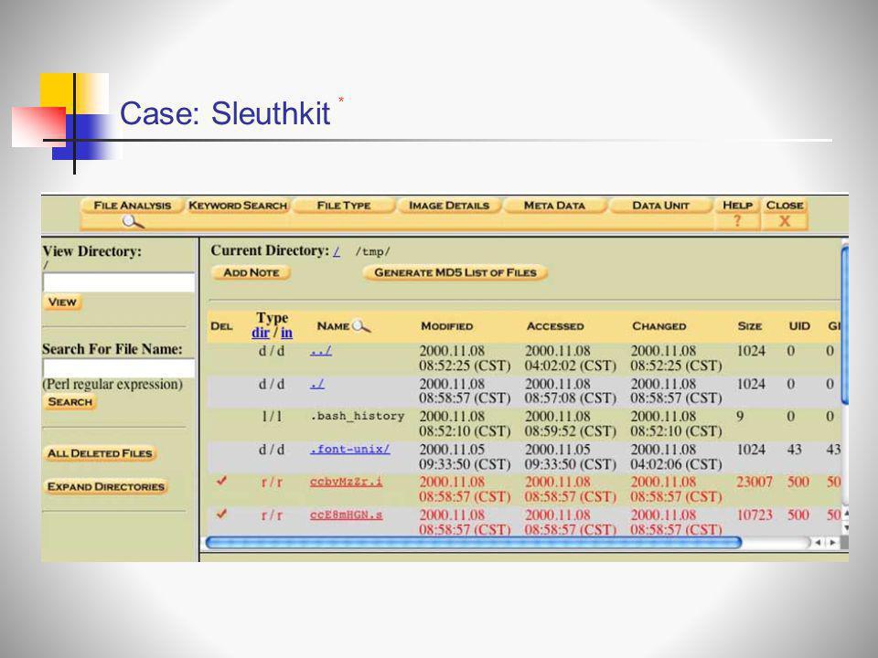 Case: Sleuthkit *