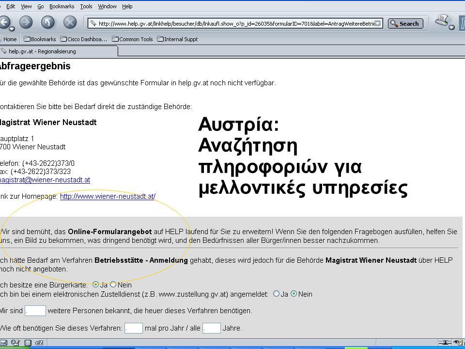 Νίκος Σαριδάκης - Αντώνης Στασής ΥΠΕΣΔΔΑ54 Αυστρία: Αναζήτηση πληροφοριών για μελλοντικές υπηρεσίες