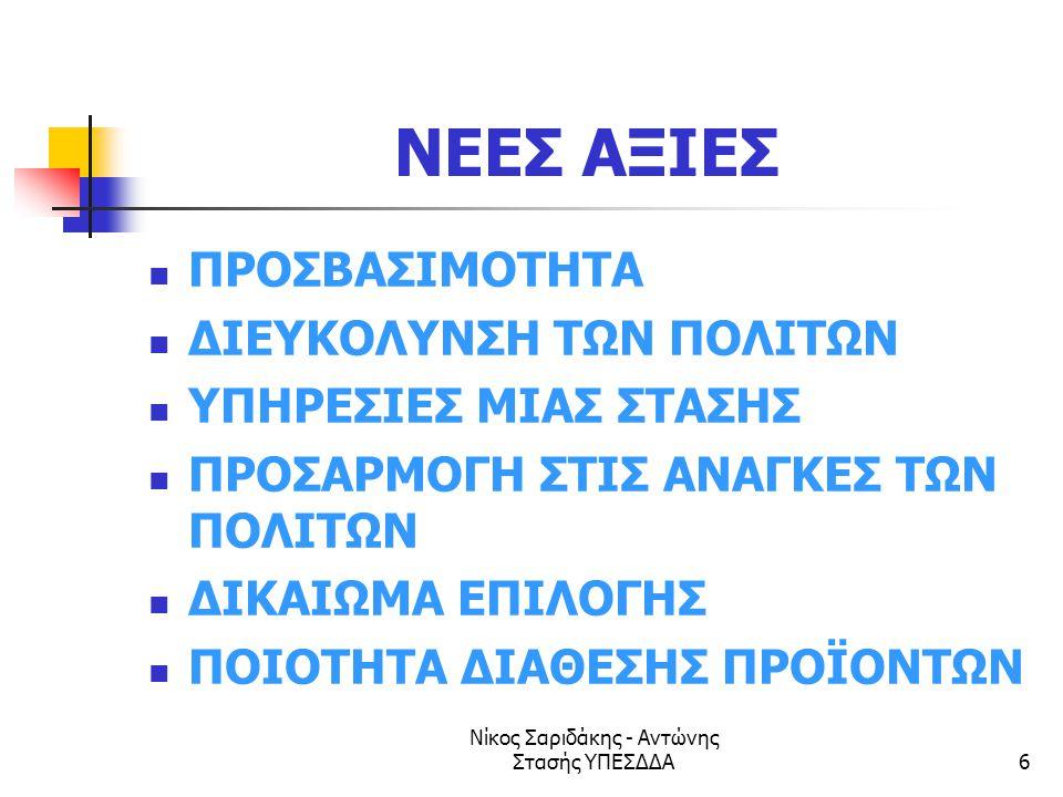 Νίκος Σαριδάκης - Αντώνης Στασής ΥΠΕΣΔΔΑ47 Κύρια χαρακτηριστικά των καλών πρακτικών για πύλες Κυβερνητικές πύλες Κατηγοριοποίηση με βάση τις ανάγκες των πολιτών.