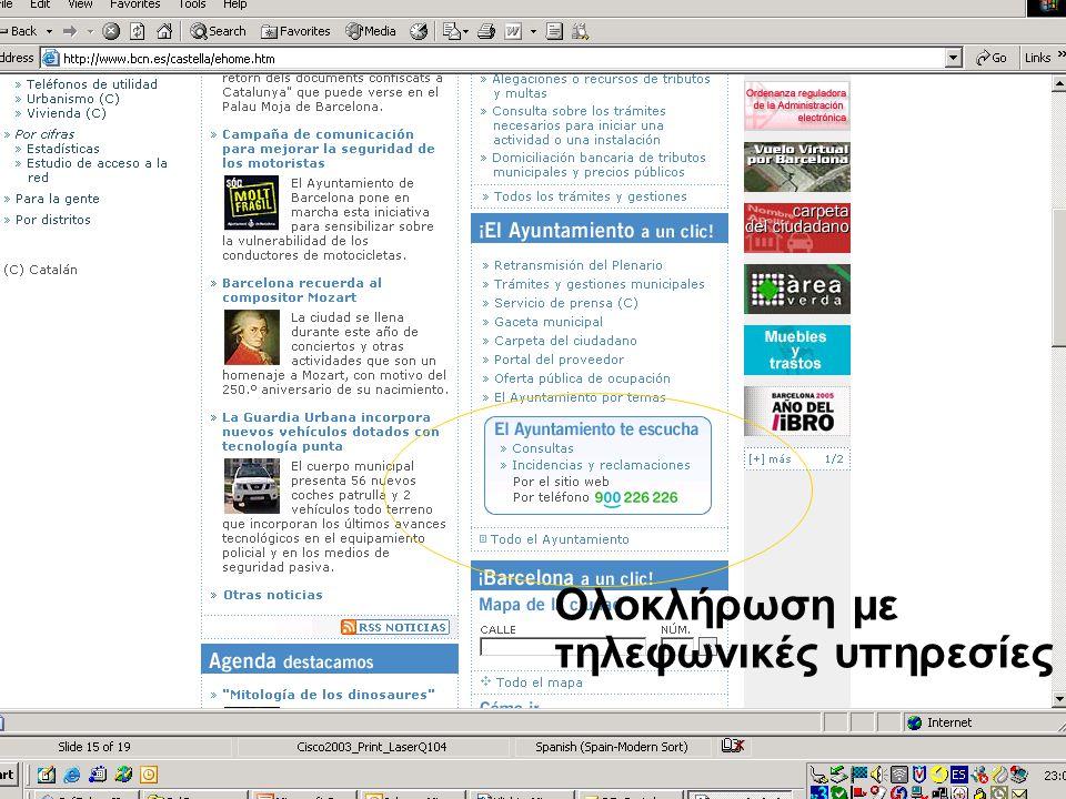 Νίκος Σαριδάκης - Αντώνης Στασής ΥΠΕΣΔΔΑ62 Ολοκλήρωση με τηλεφωνικές υπηρεσίες