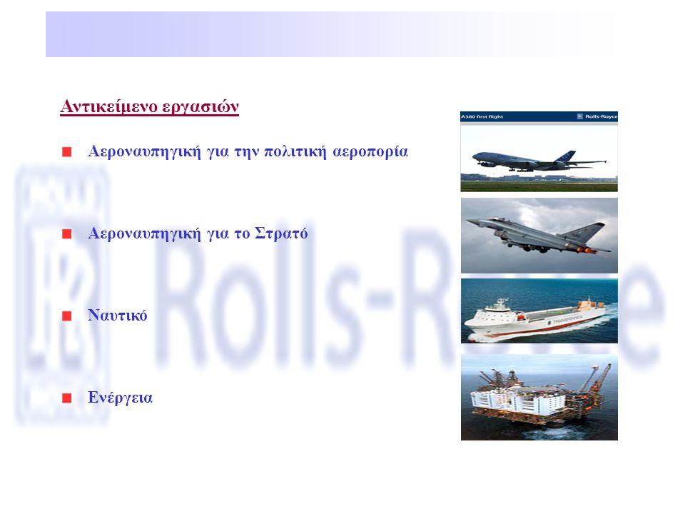 Αντικείμενο εργασιών Αεροναυπηγική για την πολιτική αεροπορία Αεροναυπηγική για το Στρατό Ναυτικό Ενέργεια
