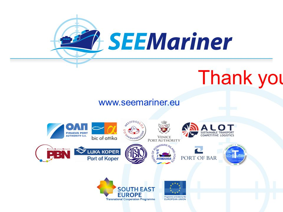 Thank you! www.seemariner.eu