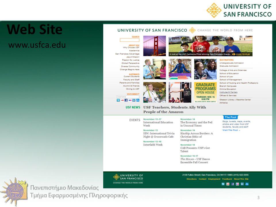 Web Site 3 www.usfca.edu