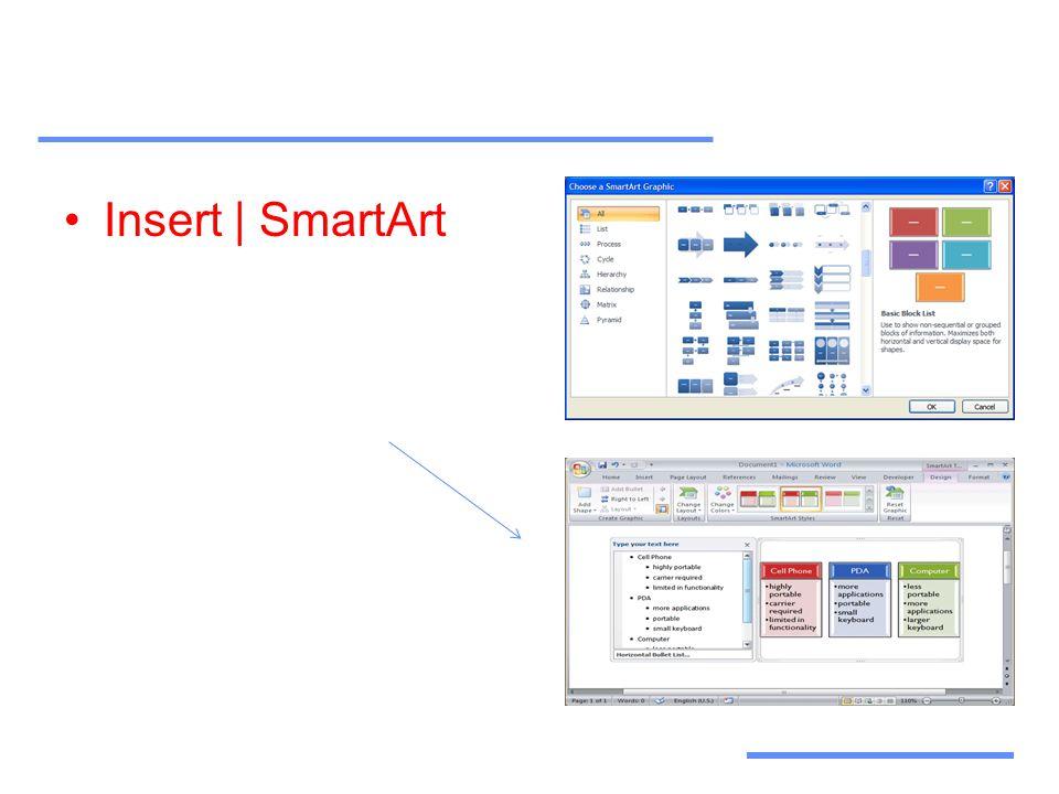 Αξιοποίηση Τεχνολογικών Εργαλείων •Insert | SmartArt