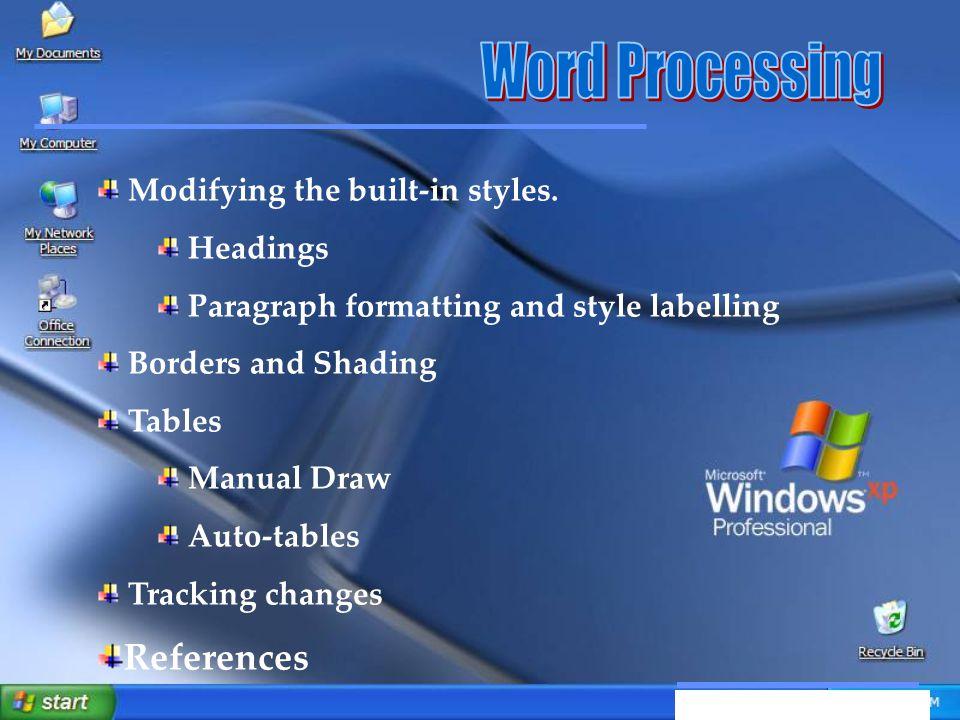 Αξιοποίηση Τεχνολογικών Εργαλείων Modifying the built-in styles.