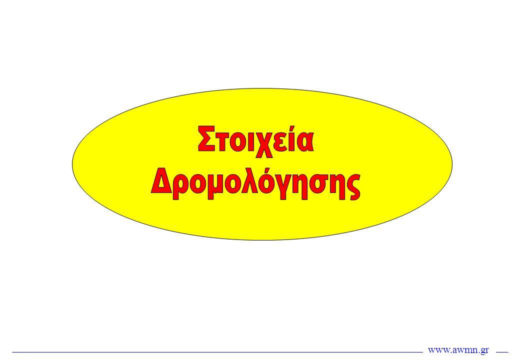 www.awmn.gr Μηχανισμός Split Horizon •Το πρωτόκολλο προβλέπει το μηχανισμό split horizon, ότι δηλαδή ένας δρομολογητής δεν επιτρέπεται να διαδώσει την πληροφορία που έμαθε προς την κατεύθυνση από την οποία την έλαβε •Με τον τρόπο αυτό αποτρέπονται βρόχοι, λόγω πιθανότητας να λάβει μια LSA ο ίδιος ο αποστολέας της