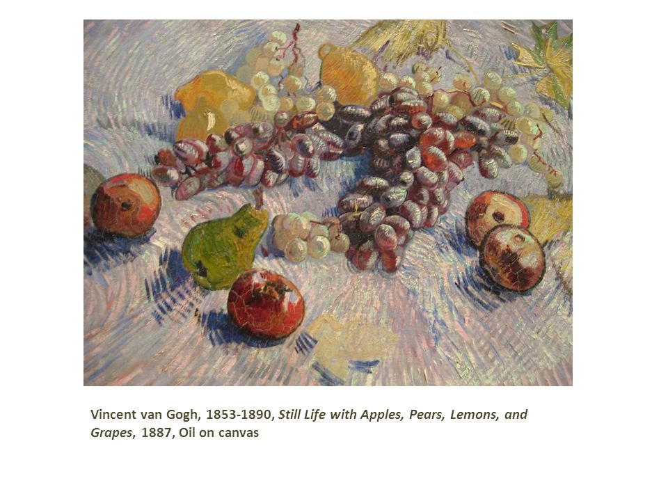 Vincent van Gogh, 1853-1890, Still Life with Apples, Pears, Lemons, and Grapes, 1887, Oil on canvas