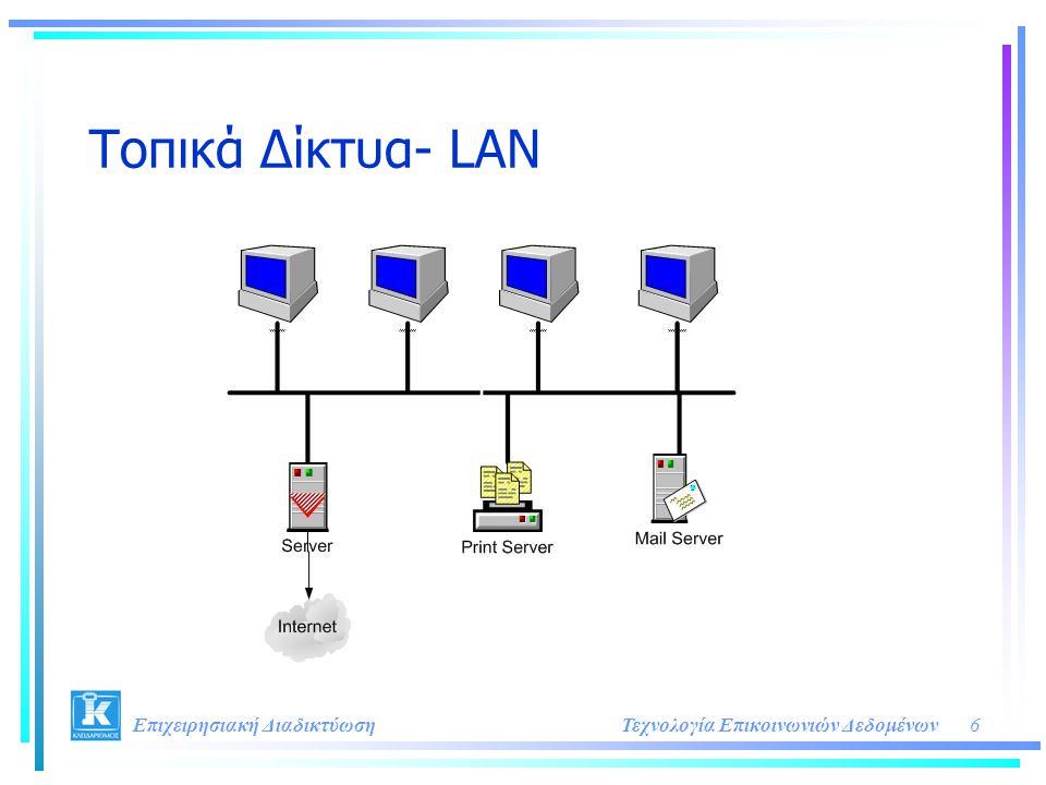 6Τεχνολογία Επικοινωνιών Δεδομένων Επιχειρησιακή Διαδικτύωση Τοπικά Δίκτυα- LAN