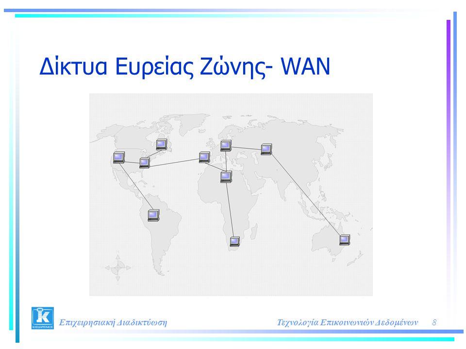 8Τεχνολογία Επικοινωνιών Δεδομένων Επιχειρησιακή Διαδικτύωση Δίκτυα Ευρείας Ζώνης- WAN