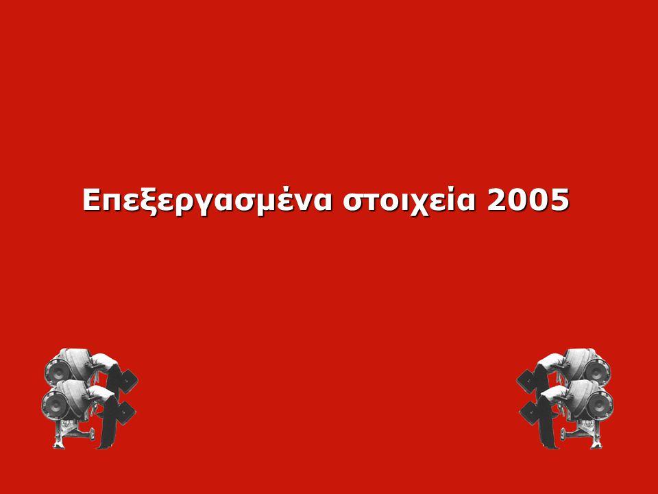 Επεξεργασμένα στοιχεία 2005