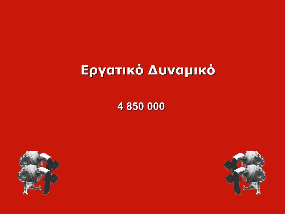 Εργατικό Δυναμικό 4 850 000