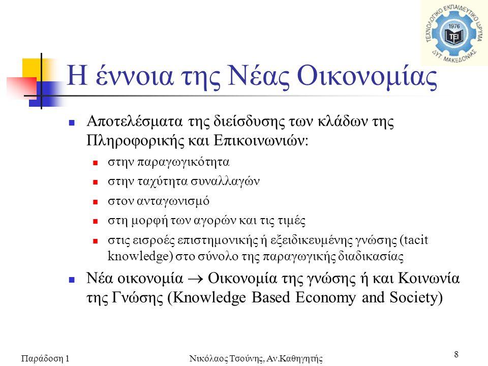 Παράδοση 1Νικόλαος Τσούνης, Αν.Καθηγητής 19  Γιατί χρειαζόμαστε νέους κανόνες; ...every individual...