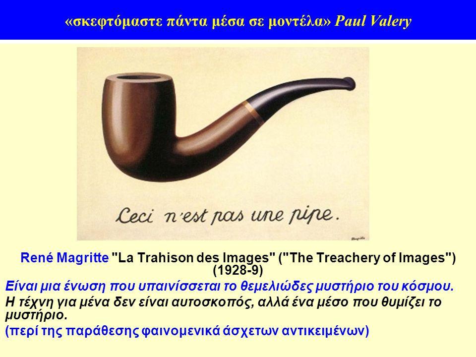 10 «σκεφτόμαστε πάντα μέσα σε μοντέλα» Paul Valery René Magritte