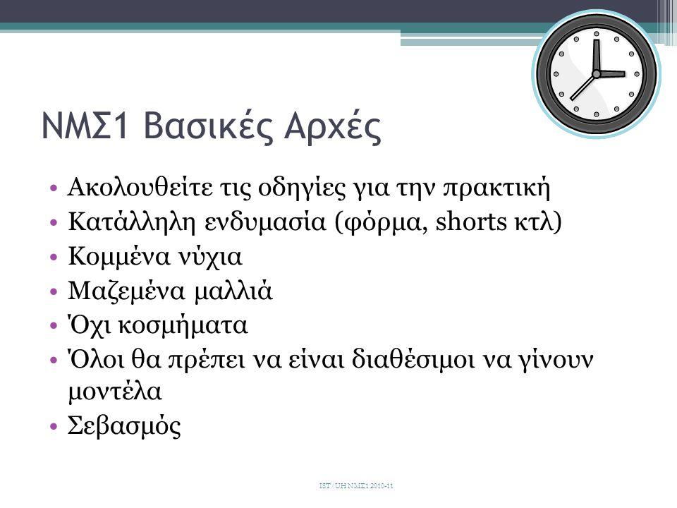 Βιβλία •Αξιολόγηση •Θεραπεία IST/UH ΝΜΣ1 2010-11