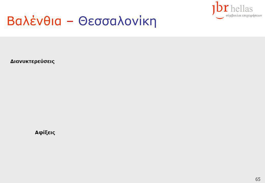 65 Βαλένθια – Θεσσαλονίκη Διανυκτερεύσεις Αφίξεις