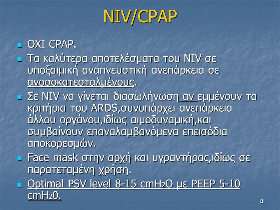 NIV/CPAP  OΧΙ CPAP.