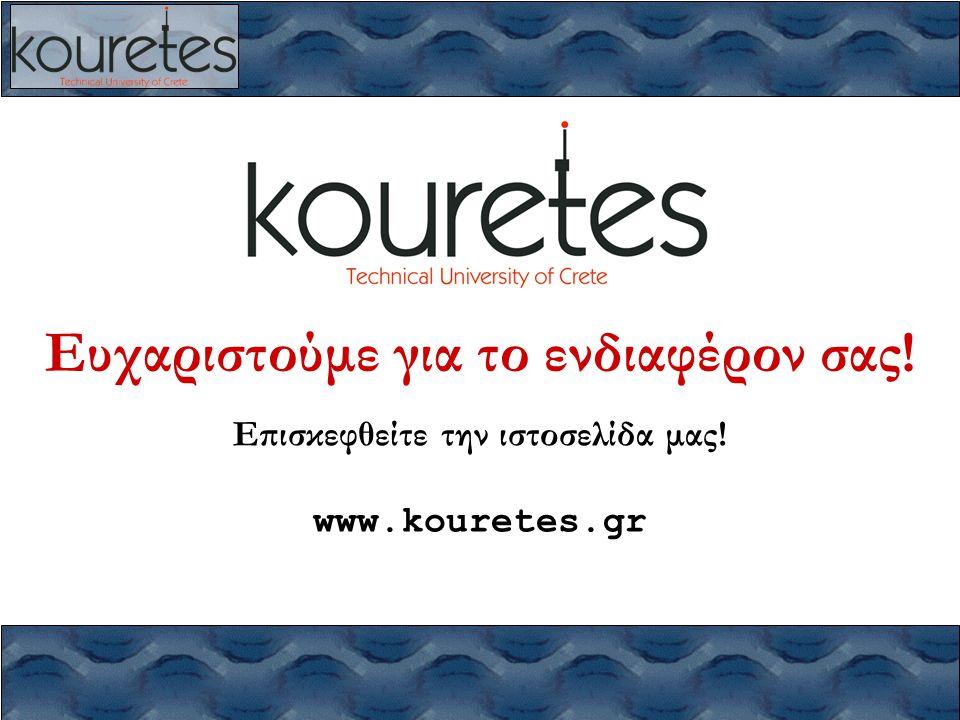 Ευχαριστούμε για το ενδιαφέρον σας! Επισκεφθείτε την ιστοσελίδα μας! www.kouretes.gr