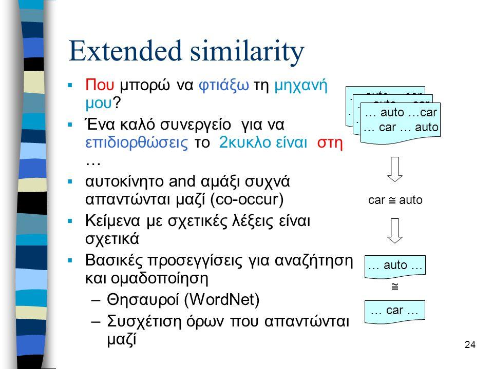 24 Extended similarity  Που μπορώ να φτιάξω τη μηχανή μου.