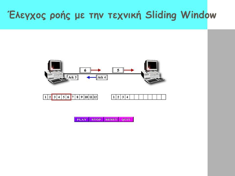 Έλεγχος ροής με την τεχνική Sliding Window