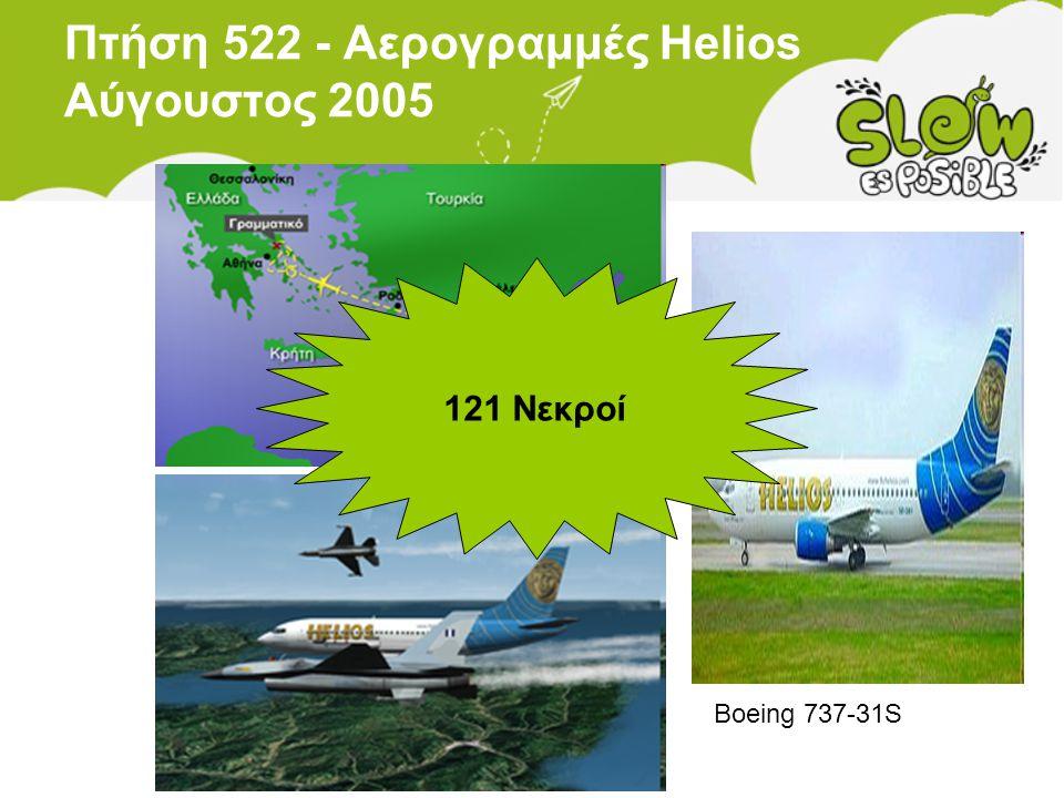 Πτήση 522 - Αερογραμμές Helios Αύγουστος 2005 121 Νεκροί Boeing 737-31S
