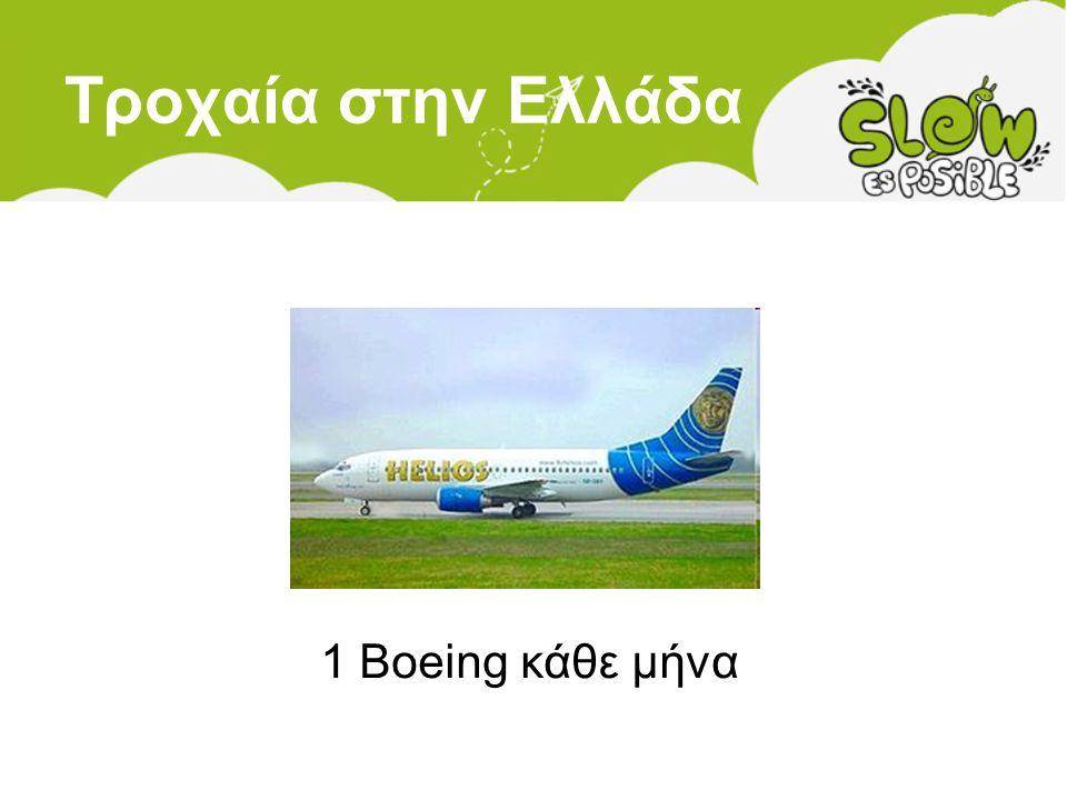 Τροχαία στην Ελλάδα 1 Boeing κάθε μήνα