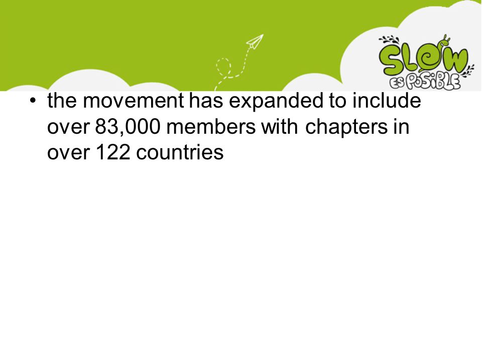 •the movement has expanded to include over 83,000 members with chapters in over 122 countries